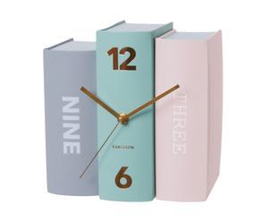 Tafelklok Book Pastels, multicolour, B 20 cm