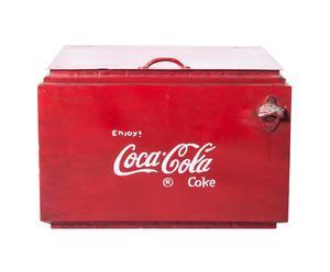 Vintage koelbox Coca Cola, rood/wit/zwart, B 55 cm