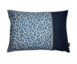 Kussenhoes Panter, blauw, 35 x 50 cm