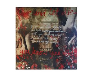 Orgineel geschilderd canvas Jacksart Live And Let Die, multicolor , 140 x 140 cm