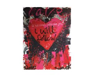 Orgineel geschilderd canvas Jacksart I Will Follow, multicolor, 150 x 200 cm