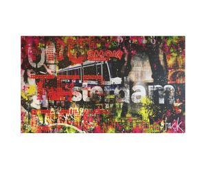 Orgineel geschilderd canvas Jacksart Amsterdam, multicolor, 200 x 140 cm