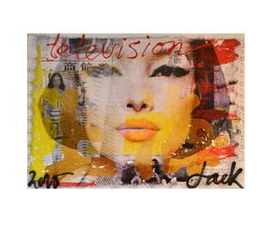 Limited edition canvas print Jacksart Chinagirl III, multicolor, 140 x 100 cm