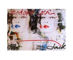 Limited edition canvas print Jacksart Chinagirl I, multicolor , 140 x 100 cm
