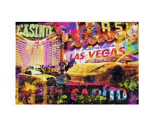Originele canvas print Jacksart Las Vegas, multicolor, 116 x 78 cm