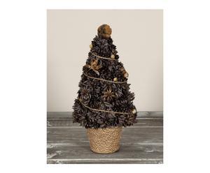 Set van 2 decoratieve kerstbomen A Golden Christmas Scented Tree  bruin H 25 cm