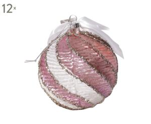Set van 12 kerstballen Hedgeville  roze diameter 10 cm