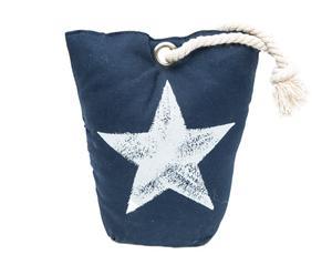 Deurstopper Star, blauw, H 19 cm