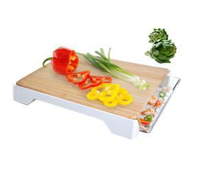 Cutting Board & Tray, wit/naturel, 37,8 x 30,5 cm