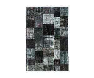 Handgemaakt patchwork tapijt Julius, zwart, 300 x 196 cm