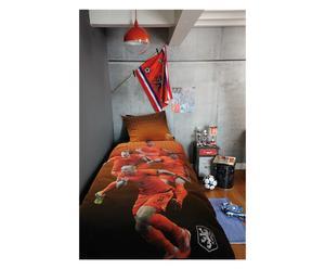 1-persoons dekbedovertrekset KNVB Onze Helden, oranje, 140 x 200 cm