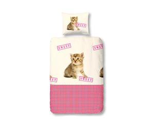 1-persoons dekbedovertrekset Cat Sweet, multicolour, 140 x 200/220 cm