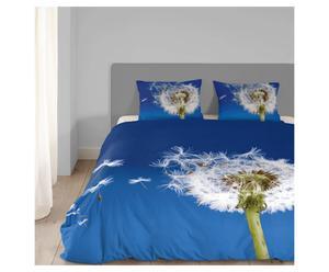 2-persoons dekbedovertrekset Dandelion, blauw, 200 x 200/220 cm
