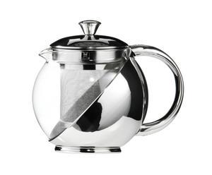 Theepot Tea, zilver, H 13 cm