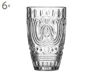 Set van 6 glazen Katy, transparant, H 13 cm