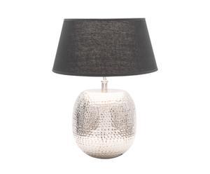 Tafellamp Touche, chroom/zwart, H 50  m