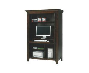 Computerkast, 4 inschuifbare deuren, kersenhout
