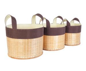 Bambuskorb-Set Phong, 3-tlg.