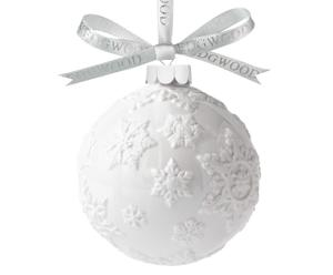 "Bombka ""White Snowflake Ball"""
