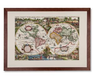 "Plakat ""Weltkarte 1625"""