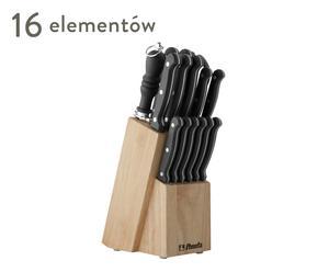 """14 noży, ostrzałka, nożyczki i drewniany blok """"Stratus"""""""