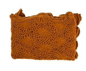 "Pled ""Crocheted"" 127 x 177 cm, karminowy"