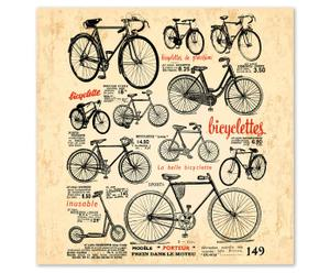 "Grafika na sklejce ""Bicyclettes"""