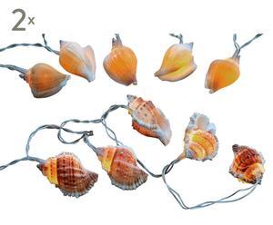 Zestaw 2 łańcuchów lampek-muszelek