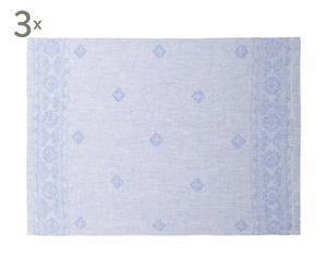 """Zestaw 3 ręczników kuchennych """"Byzant"""", jasnoniebieski"""
