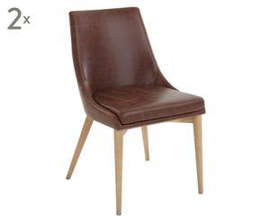 """Zestaw 2 krzeseł """"Leather Moose"""""""
