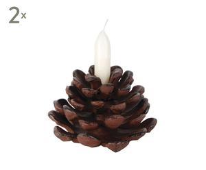 """Zestaw 2 świeczników """"Cone"""""""