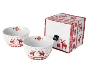 "Zestaw 2 miseczek w pudełku ""Christmas Deer"""