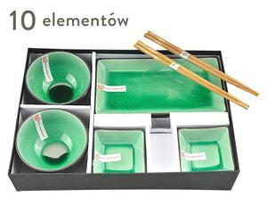 """Komplet 10-częściowy do sushi """"Gasha"""", zielony"""