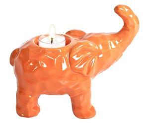 """Świecznik """"Elephant II"""", pomarańczowy"""
