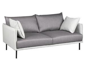 """Sofa """"Madison"""", biało-ciemnoszara"""