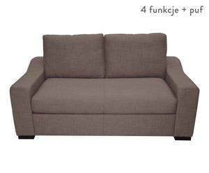 """Sofa 2-osobowa """"Richmond"""" z podnóżkiem, brązowa"""