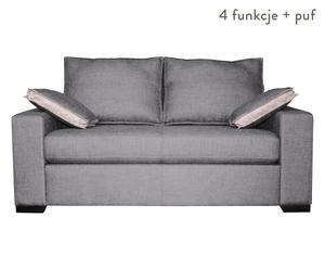 """Sofa 2-osobowa """"Bodega"""" z podnóżkiem, niebiesko-szara"""