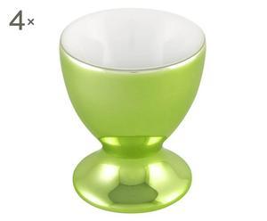 """Zestaw 4 kieliszków do jajek """"Shanghai"""", zielony"""