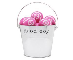"Komplet 15 piłek z wiaderkiem ""Tennis"", różowy"