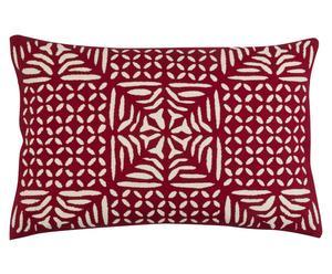 """Poszewka na poduszkę """"Cutwork"""", biało-czerwona"""