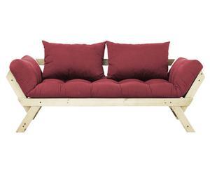 """Sofa 2-osobowa rozkładana """"Bebop I"""", bordowa"""