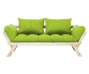 """Sofa 2-osobowa rozkładana """"Bebop I"""", zielona"""