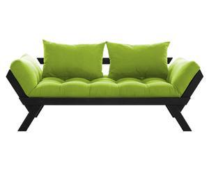 """Sofa 2-osobowa rozkładana """"Bebop II"""", zielona"""