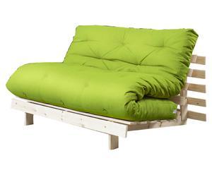 """Sofa 2-osobowa rozkładana """"Roots I"""", zielona"""