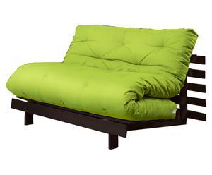 """Sofa 2-osobowa rozkładana """"Roots II"""", zielona"""