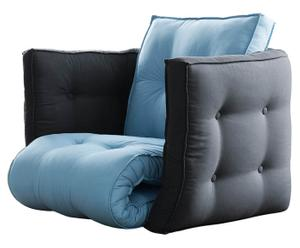 """Fotel rozkładany """"Dice"""", błękitno-szary"""