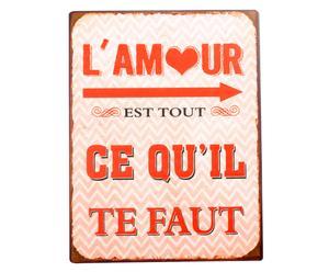 """Tabliczka dekoracyjna """"Amour"""""""