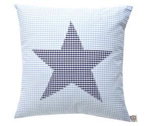 """Poduszka """"Star"""", błękitno-niebieska"""