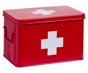 """Pudełko apteczne z wieczkiem """"Lexe"""", czerwone"""