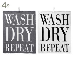 """Komplet 8 ściereczek kuchennych """"Wash Dry"""", 50 x 80 cm"""